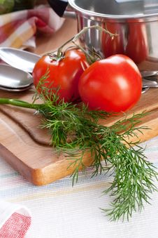 Free Dill And Tomatoes Stock Images - 9226364