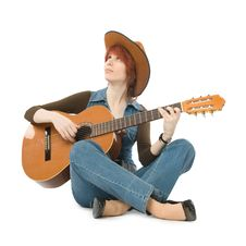 Free Woman With Guitar Royalty Free Stock Image - 9226846