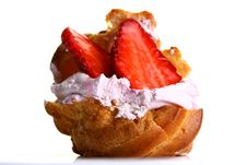 Free Fruitcake With Fresh Strawberry And Jam Stock Photos - 9226853