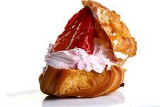 Free Fruitcake With Fresh Strawberry And Jam Royalty Free Stock Images - 9226879