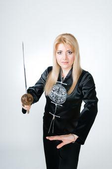 Free Beautiful Woman With Sword Stock Photo - 9226960