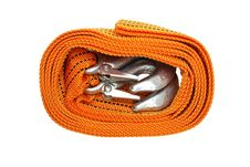 Towing-rope Isolated Over White Royalty Free Stock Images