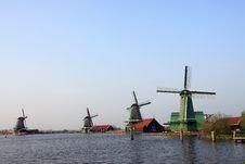 Free Windmill Village In Amsterdam, Dutch Landmarks Stock Photo - 9227090