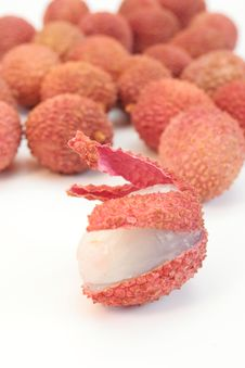 Litchi Stock Photo