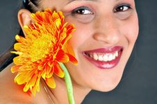 Free Girl And Flower Stock Photography - 9227422