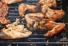 Free Chicken On The Grill Royalty Free Stock Image - 9227456