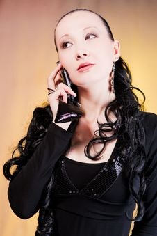 Free Woman Speaking On Phone Stock Images - 9228434