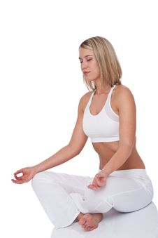Free Fitness Series - Young Woman In Yoga Position Royalty Free Stock Images - 9228709