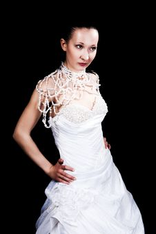 Dark Hair Bride Royalty Free Stock Images