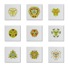 Free Abstract Flower Icons Stock Image - 9229161