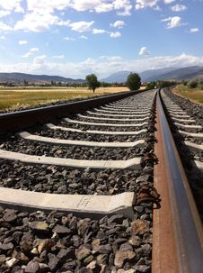 Free Railroad Tracks Against Sky Stock Photos - 92236633