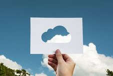 Free Cloud Silhouette Against Blue Skies Stock Images - 92236904