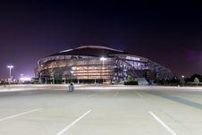 Free AT&T Cowboys Arena Illuminated At Night Royalty Free Stock Photography - 92236937