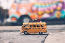Free Toy Volkswagen On The Sidewalk Stock Photos - 92237203