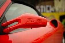 Free Ferrari Side Mirror Royalty Free Stock Photography - 92238157