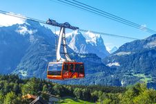 Free Cable Car In The Snow Capped Mountains Stock Image - 92238741