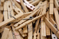 Free Clothespins Royalty Free Stock Photography - 9231807