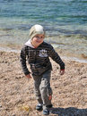 Free Little Blondy Boy Has A Fun On The Beach Royalty Free Stock Image - 9233036