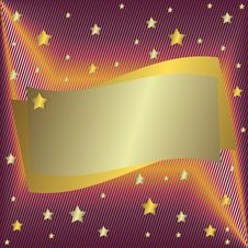 Free Silvery  Frame With Stars Royalty Free Stock Photo - 9230405