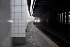 Free Arriving Train Royalty Free Stock Image - 9232006