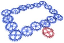 One Gear Rotate Whole Mechanism Stock Photo