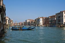 Free Venice Channel With  Gondolas Stock Photography - 9233332