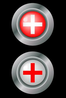 Free Buttons With Medical Crosses Stock Images - 9233664