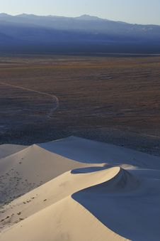 Eureka Sand Dunes Stock Photo
