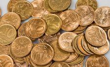 Heap Of Russian Metal Coins Stock Photos
