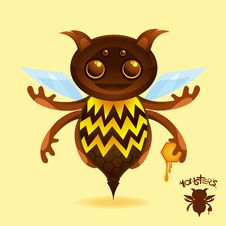 Free Monsters - The Honey Beest Stock Images - 9234294
