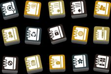 Free Document Icon Set Stock Image - 9234471