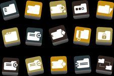 Free Folders Icon Set Stock Image - 9234561