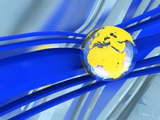 Background With Earth Globe Stock Images