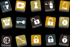 Free Security Icon Set Royalty Free Stock Images - 9234929