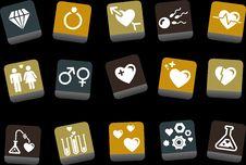 Free Valentine S Day Icon Set Stock Photography - 9234992