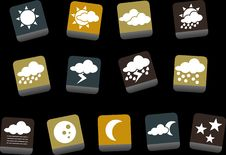 Free Weather Icon Set Royalty Free Stock Image - 9235106