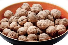 Walnuts In A Bowl Royalty Free Stock Photos