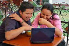 Free Young Hispanic Couple Stock Photos - 9236543