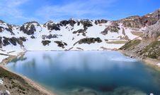 Free Lake Of High Mountain, Former Glacier. Stock Photo - 9237000