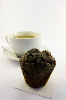 Free Tea And Chocolate Muffin Stock Images - 9237004
