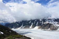 Salmon Glacier Clouds Stock Photo