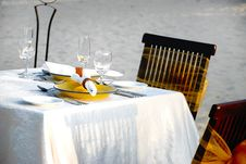 Free Beach Site Dinning Royalty Free Stock Photos - 9238378