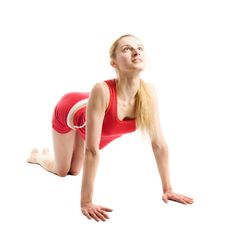 Free Blond Girl Doing Gymnastic Exercises Royalty Free Stock Images - 9238909