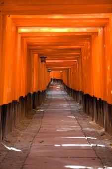 Free Fushimi Inari Shrine Stock Images - 9239514