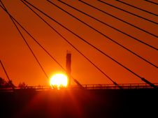 Free Sun Sets In Wires Stock Photography - 92329732