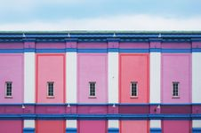 Free Pink And Purple Walls With Windows Stock Image - 92330371
