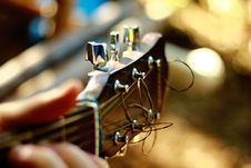 Free Brown Guitar Headstock Stock Photos - 92330433