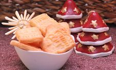 Free Christmas Cookies Royalty Free Stock Images - 92330589