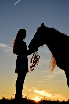 Free Woman With Horse Royalty Free Stock Photos - 92331088