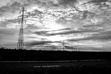 Free Electricity Pylons In Landscape Royalty Free Stock Image - 92331176